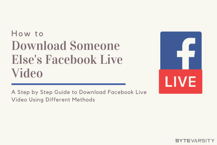 How To Download Someone Else's Facebook Live Video in 2021
