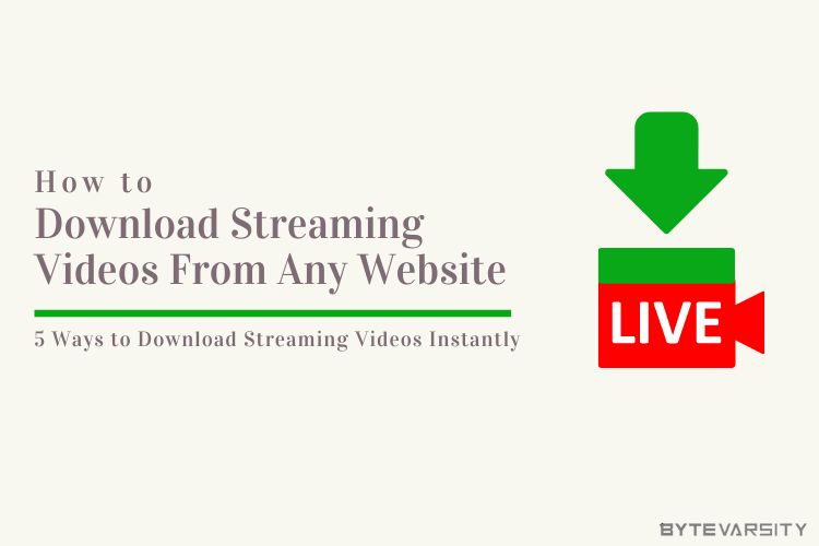 How To Download Streaming Videos From Any Website | 5 Ways