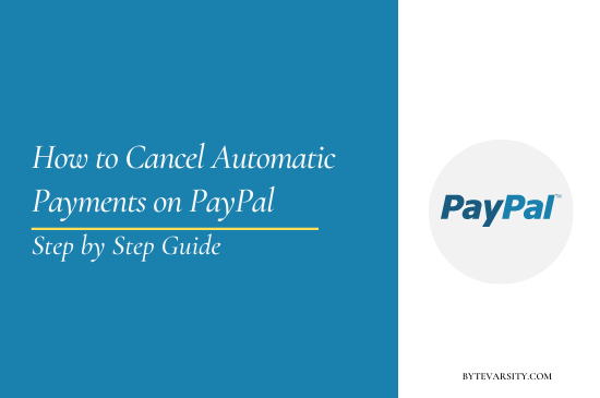 How to Cancel Automatic Payments on PayPal
