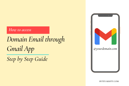 How to Access Domain Email through Gmail App