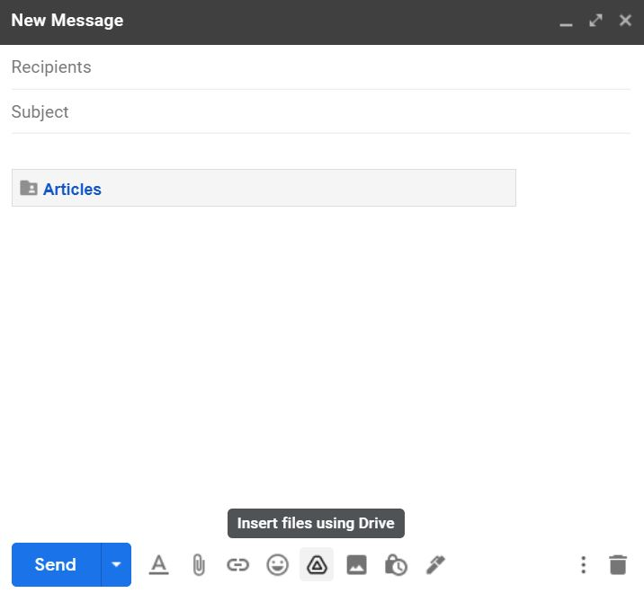 how to send folders in gmail