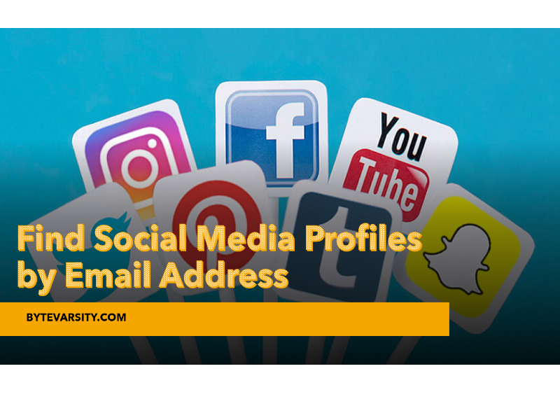 Find Social Media Profiles by Email address for free