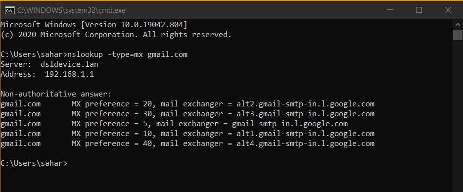 Finding the mail server