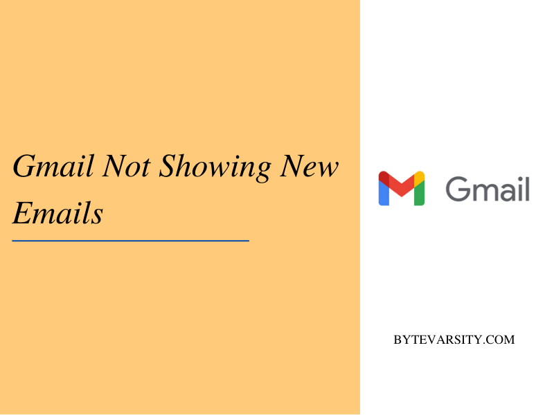Gmail not showing new emails