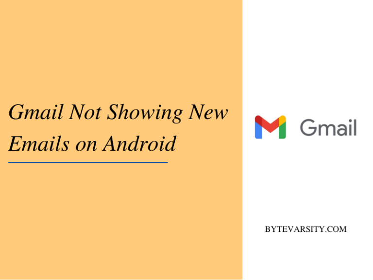[Fixed] Gmail not showing new emails on Android