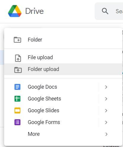 Google drive new folder
