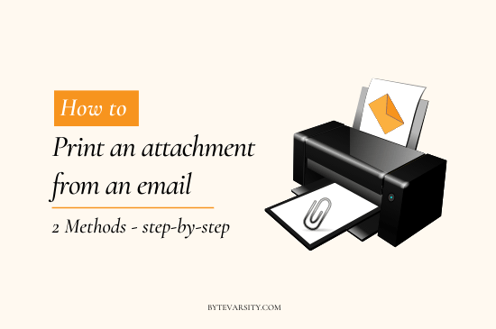 How to Print an Attachment from an Email