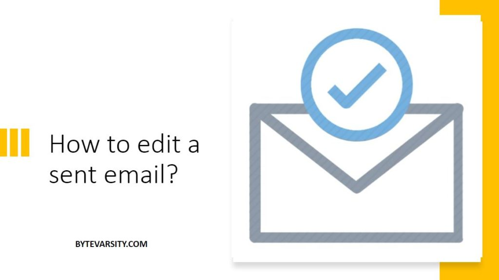 How to edit a sent email
