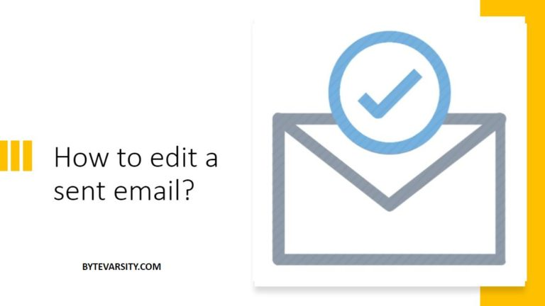How to edit a sent email? [2021 Guide]
