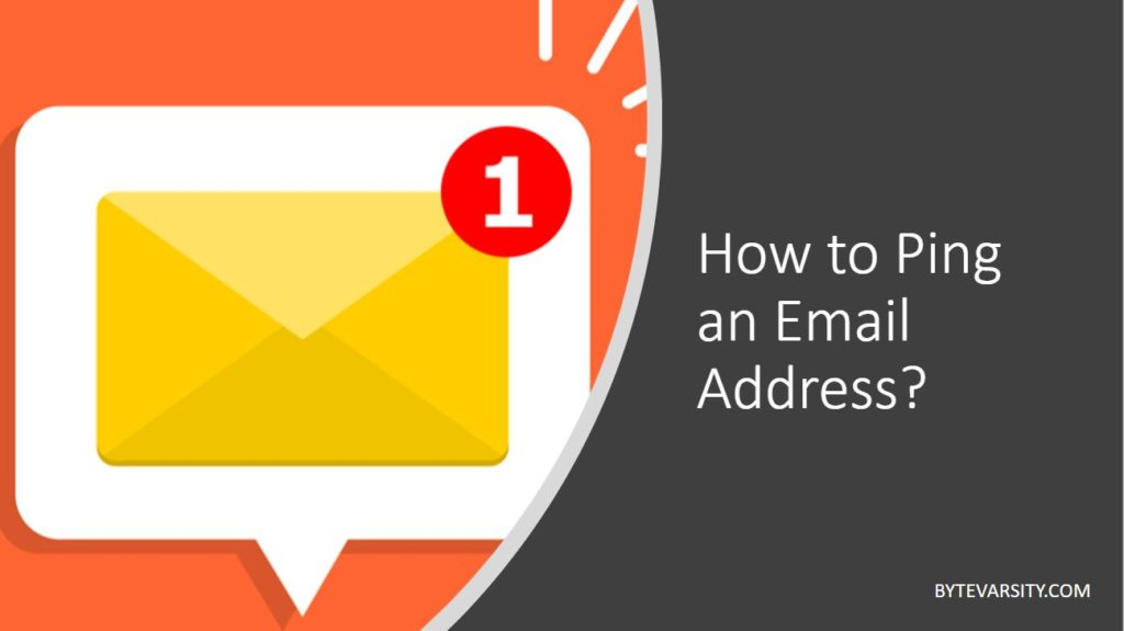 How to ping an email address