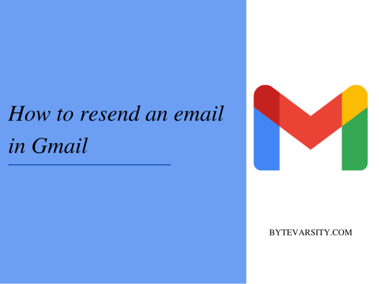 Guide on How to resend an email in Gmail
