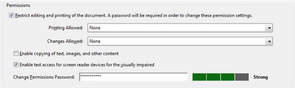 Editing restrict access menu