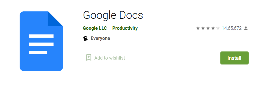 Google Docs - Best Apps to store Important Documents - Complete List