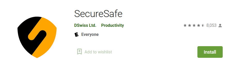 SecureSafe - Best Apps to store Important Documents - Complete List