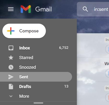Sent tab Gmail