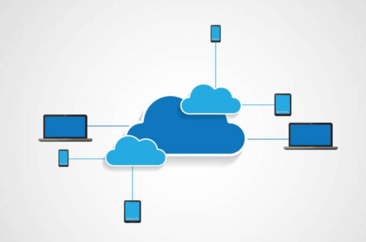 Cloud storage illustration.